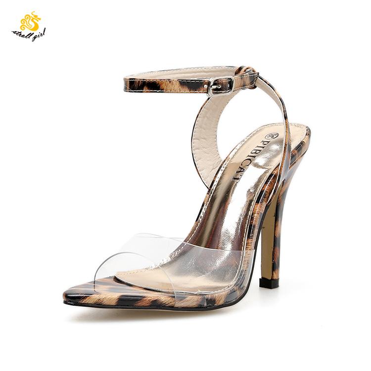 a8c960300 Infinito Passeio Menina L1904061 OEM fechado toes sandália das mulheres do  pvc sapato com salto de