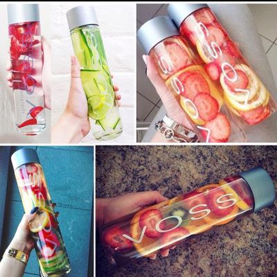 Custom Logo Bulk Empty Cold Pressing Fruit Juice Milk Cold Brew Coffee Glass Voss Water Bottle