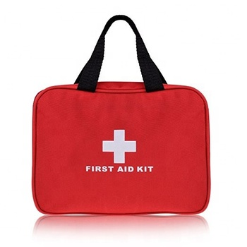 Professional CE FDA approval 210pcs bag emergency first aid kit (Red with Handles)