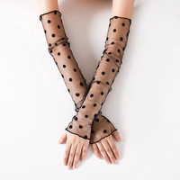 2019 Lace summer sun protection pile mesh sock cover ice-sleeved fishnet leg warmers uv light blank sports arm long sleeve