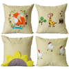 Promotion linen embroidered flower design pillow cushion cover outdoor cushion