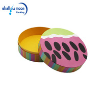 Packing Candy/Romantic round cardboard flower storage box with a lid for flower