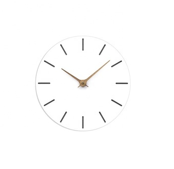 Fashion Modern Style Artist Home Office Decorative White Circle Wood Wall clock