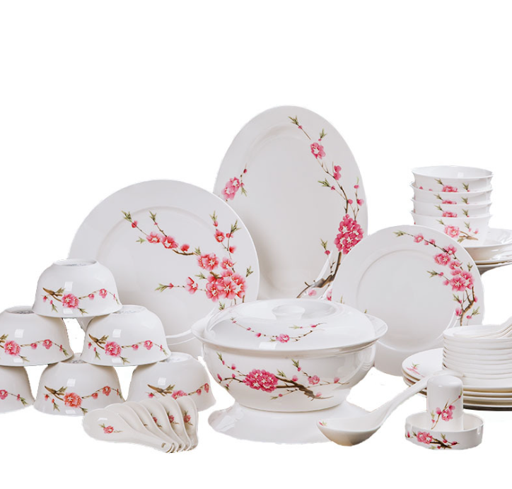 Porselein servies set blauw en wit porselein schotel set familie gift