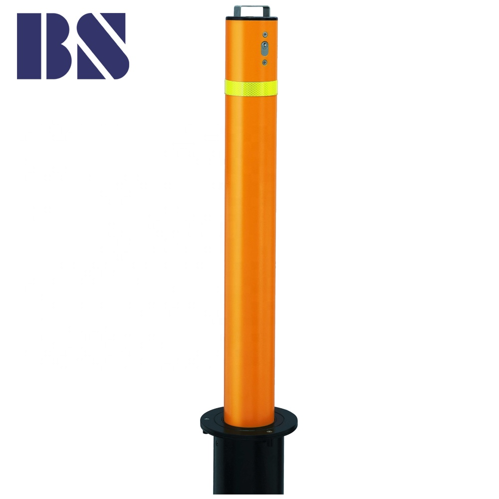 Stainless Steel Metal Traffic Manual Retractable Telescopic Parking Security Bollard Parking Post Manufacture