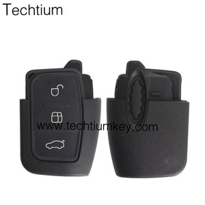 black plastic car clave key part with 3 truck button and blue long logo id46 for ford keyless remote 315 mhz for ford focus