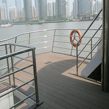 Waterproof nonslip wood plastic composite boat decking