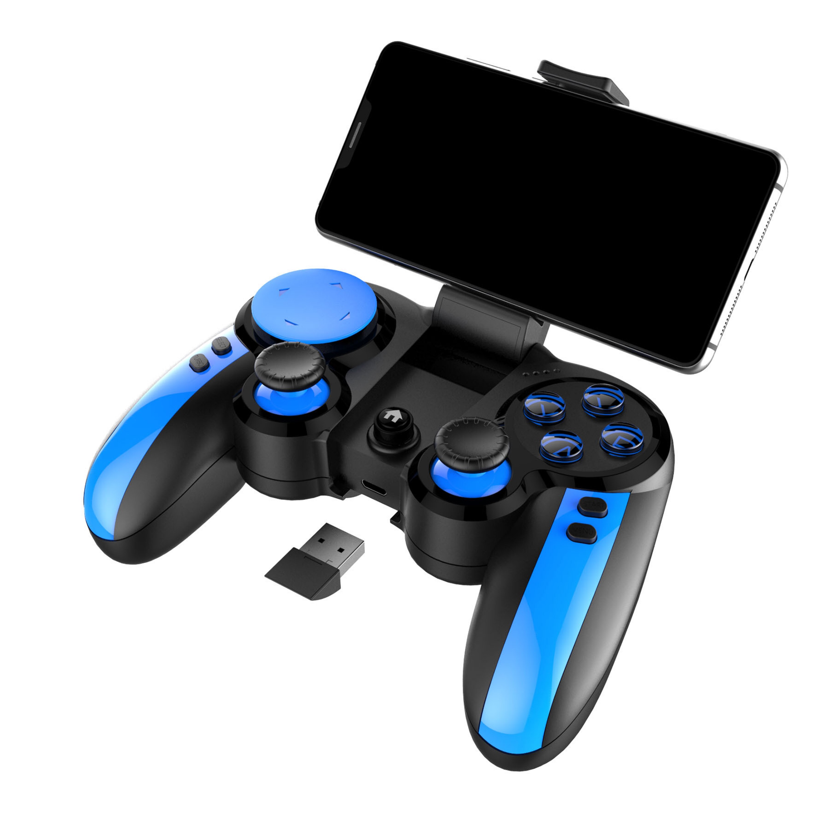 PG-9090 Smurfs 2.4G ไร้สาย Bluetooth Playerunknown's - Battlegrounds เกม IOS Android Instant Gamepad
