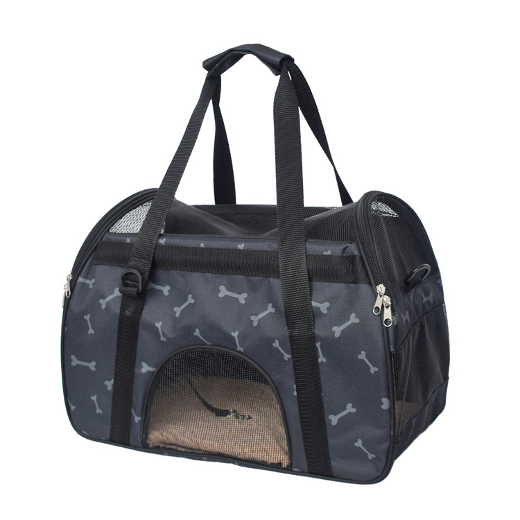 Easy Carrying Breathable Cat <strong>dog</strong> Pet Travel <strong>Carrier</strong> Tote Sling <strong>Bag</strong> with Detachable and Adjustable Shoulder Strap