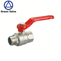 China manufacturer Hot sale long handle brass angle ball valve with chrome plated and male female thread