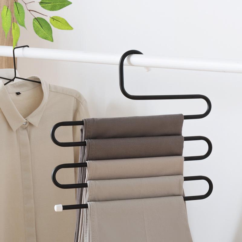 Pantaloni Camicia Appendiabiti Spalla Larga Senza Soluzione di Continuità Vestiti di Plastica Supporto Con Clip Regolabile