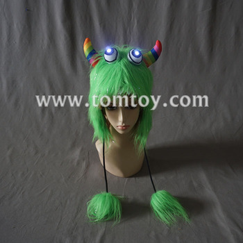 Party Costume Green Monster LED Light Up Hat