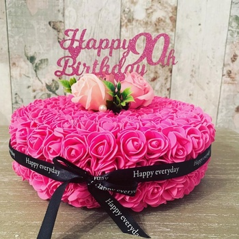 Pleasing Artificial Flower Rose Birthday Cake Mold Decoration With Pe Soap Personalised Birthday Cards Sponlily Jamesorg