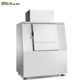 ice bag storage freezer /outdoor commercial freezer bagged ice bin/Ice cube storage bin with two doors