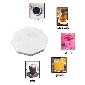new product ideas 2019 engraved Amazon Hot Selling Factory supply  customized marble coasters and cheap stone placemats