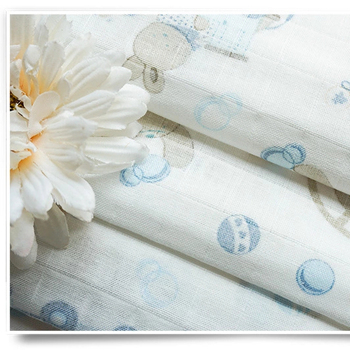 china wholesale baby 100 cotton flannel printed muslin fabric baby bedding fabric