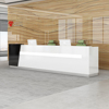 Salon Reception Desk Hot Sale Classic French Style White High Gloss LED Modern Reception Desk