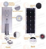 Factory Direct good price 15w 30w 40w 50w 60w 70w 90w 100w all in one solar street light for big project