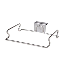Amazon hot selling vuilniszak opknoping stand zilver keuken handdoek houder <span class=keywords><strong>rack</strong></span> over kabinet