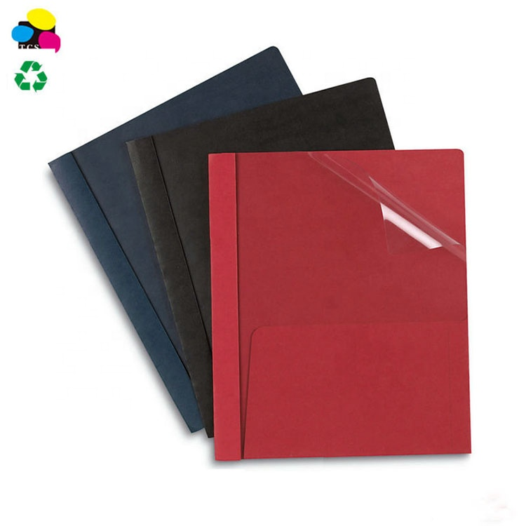 11PT Assorted Clear-front Report Cover with 3 Prongs