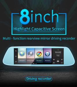 Live Streaming 4G Full 8 inch android system rear view mirror radar detector1080p HD dash cam navigation and bluetooth