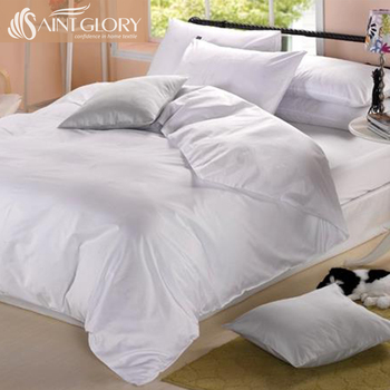 Saint Glory Professional white queen size duvet cover sets with cotton fabric