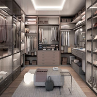Hangzhou N&L Luxury walk in wooden modular closets bedroom wardrobe with wardrobe manufactures direct