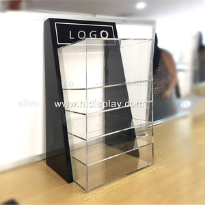 Perspex whisky bottle display stand essential oil cabinet e-cigarette acrylic vape liquor display rack