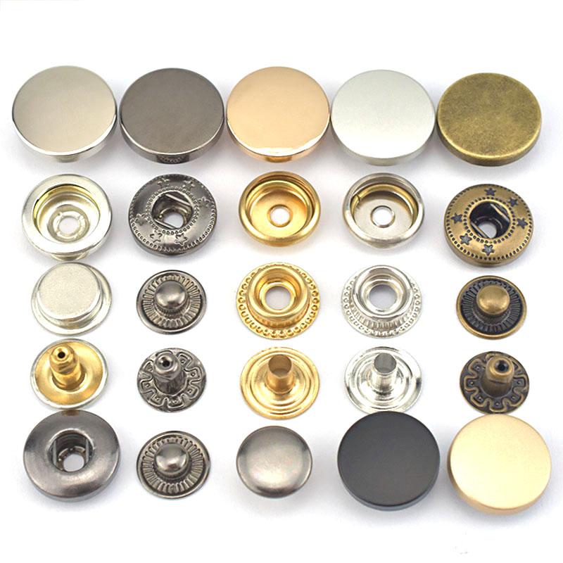 Fancy Shirt Klinknagel Kledingstuk Aangepaste Metalen Drukknoop Naaien Accessoires Metalen Knopen