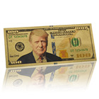 New Design 100 Donald Trump Dollar Gold Foil Paper Bill Banknote for sale
