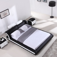 2019 Latest design good quality modern leather bed