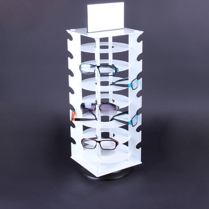 Fashion multifunctional rotatable ABS material sunglass display stand for <strong>retail</strong> store