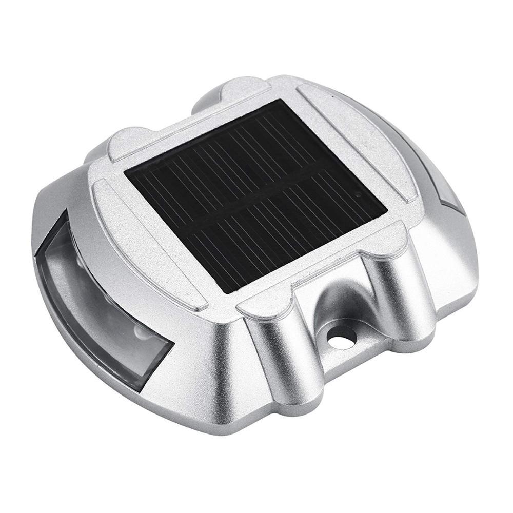 Waterproof die casting aluminum solar powered driveway deck dock floor light XLTD-1515 solar led warning marker lights for road