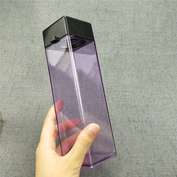 Bpa free 2019 plastic square shaped water bottle