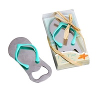 Beach Wedding Favors Metal Flip Flop Beer Openers Bridal Shower Souvenirs Wedding Guest Giveaway Bottle Opener