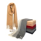 mens winter melange color wool cashmere pashmina scarf shawl and hijab for women