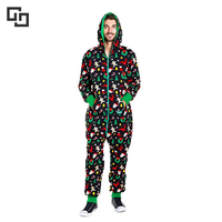 Mens Custom Christmas Adult Onesie Jumpsuit