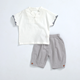 PHB 12613 blank design children kids two piece clothing