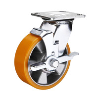 WBD 600kg load Polyurethane heavy duty caster wheels industrial