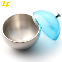Round Ice 럴 Stainless Steel 절연 Ice Bucket Silver 와 플라스틱 lid