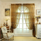 Latest curtain fashion designs sheer voile fabric curtain beads wooden door, Luxury beaded door sheer curtains*