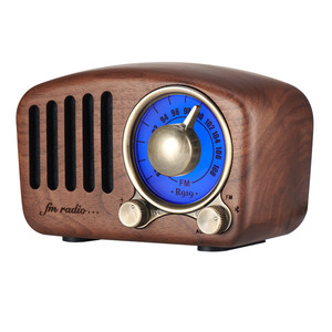Wholesale customizable vintage wooden retro am fm german antique radio with bluetooth speakers