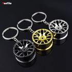 Auto Cheap Wholesale Turbo Wheels Custom Metal Keychain