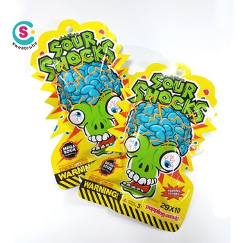 Halloween 2g*10pcs sour sweet popping candy magic candy in bag