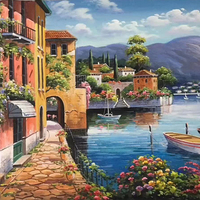 Landscape Modern Art 100% Hand Painted Oil Painting on Canvas Wall Art Deco Home Decoration
