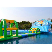 Outdoor Adults Inflatable Floating Water Park Games Professional Giant Inflatable Waterpark toys For Commercial Rental