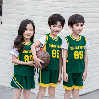 Y8118 Summer Sportswear 2PCS Basketball Clothes Kindergarten Primary School Uniforms