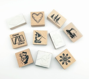 Custom Made Wooden Kids Rubber Stamps In Assorted Sizes And Assorted Patterns Suitable For Art And Crafts And Scrapbooking