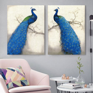 art wall decoration peacock canvas painting Canvas painting picture print