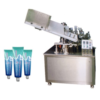 Automatic toothpaste cosmetic paste plastic soft tube and aluminum tube filling sealing machine